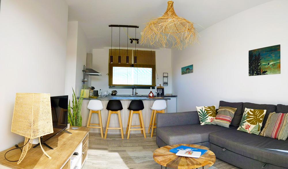 Coup de soleil pour un appartement de vacances
